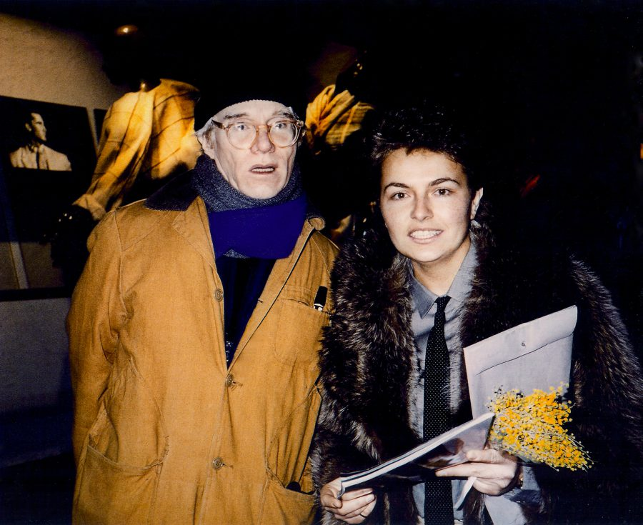 Daniela Scaramuzza with Andy Warhol