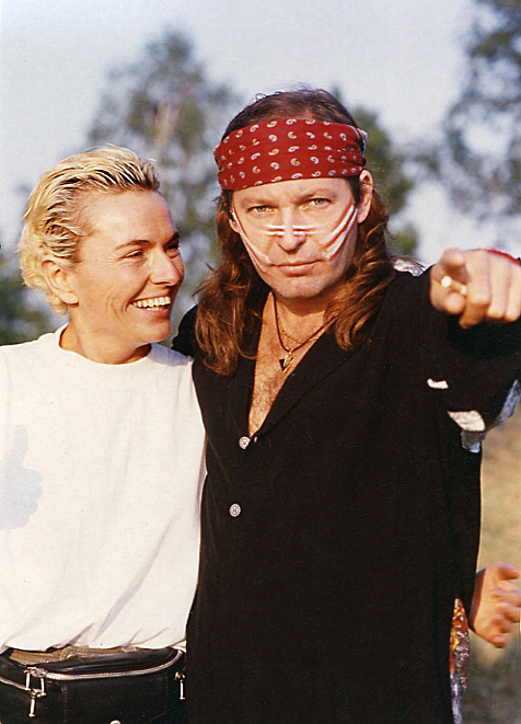 Vasco Rossi with Daniela Scaramuzza