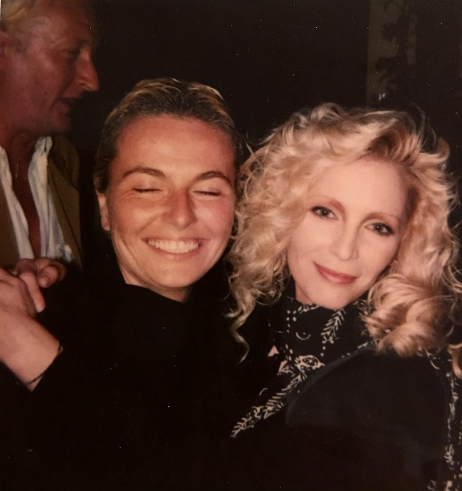 Singer Patty Pravo with Celebrity Photographer Daniela Scaramuzza