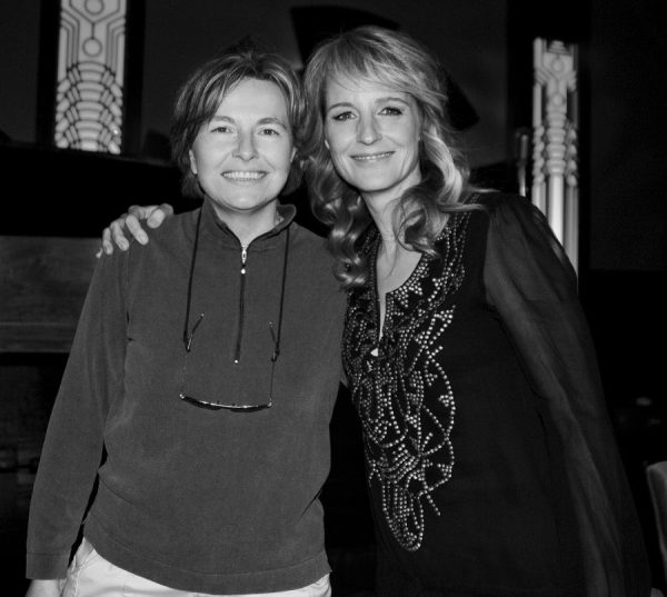 Helen Hunt with photographer Daniela Scaramuzza