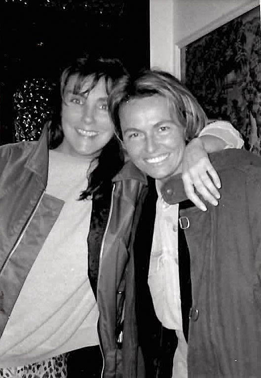 Laura Branigan with Daniela Scaramuzza