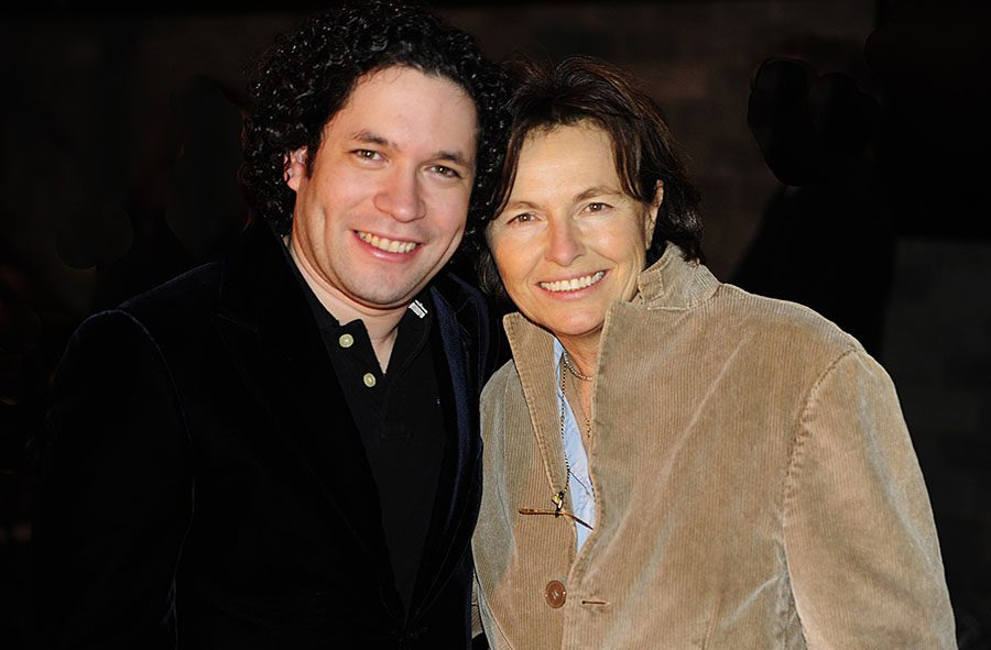 Maestro Gustavo Dudamel with celebrity photographer Daniela Scaramuzza