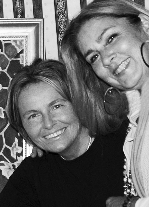 Singer Romina Power with photographer Daniela Scaramuzza